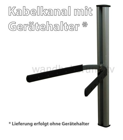 kabelkanal mit schienensystem f r ger tehalter. Black Bedroom Furniture Sets. Home Design Ideas