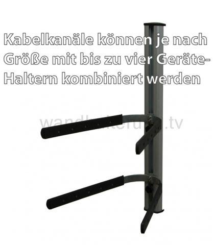 Kabelkanal mit Schienensystem für Gerätehalter