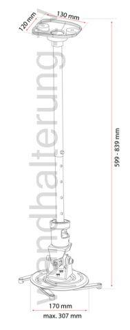 Beamerhalterung / Projektorhalterung quipma 720