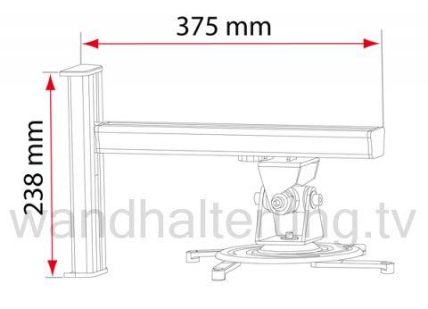 Beamerhalterung / Projektorhalterung quipma 730