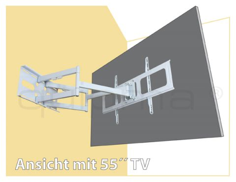 TV Wandhalterung quipma 350 (ausziehbar bis 84 cm)