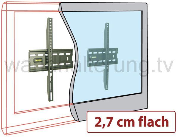 tv wandhalterung quipma 8788 sehr flach 40 65 zoll bis vesa 1000 40kg ebay. Black Bedroom Furniture Sets. Home Design Ideas